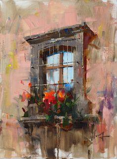 Paintings Abstract Landscape Painting, Seascape Paintings, Landscape Paintings, Abstract Art, Art Folder, Southwest Art, Window Art, Pastel Art, Watercolor Paintings