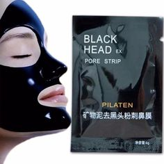 Cheap black head strip, Buy Quality mask face care directly from China black head Suppliers: Pilaten Facial Black Mask Face Care Nose Acne Blackhead Remover Minerals Pore Cleanser Mask Black Head Strip maquiagem Pore Mask, Blackhead Mask, Skin Mask, Blackhead Remover, Blackheads On Nose, Nose Pores, Pore Strips, Charcoal Face Mask, Pore Cleanser