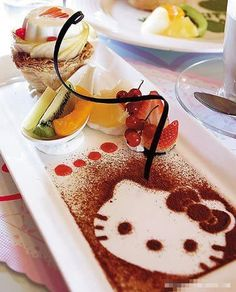Great food decorating idea for Hello Kitty-themed parties