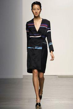 Look 45 Rachel Comey Spring 2013 #stripes