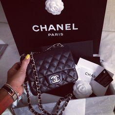 Chanel Classic Caviar Mini Flap Bag