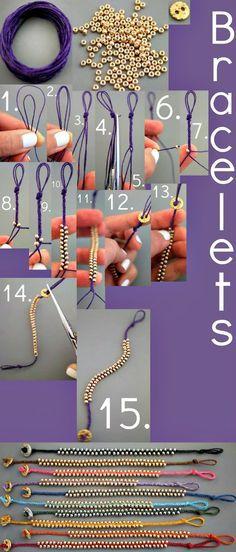 braceletes-de-miçangas como fazer , como criar bijuterias                                                                                                                                                                                 Mais