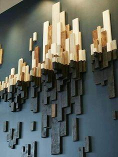 10 wunderbare DIY moderne Wandkunst-Design-Ideen - Architektur und Kunst - The World Wooden Wall Art, Diy Wall Art, Diy Wall Decor, Wooden Walls, Diy Home Decor, Diy Art, Room Decor, Wood Artwork, Scrap Wood Art
