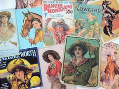 12 Vintage Cowgirl Western Cowboy Horse Die Cuts For Crafting   M13   Free Ship