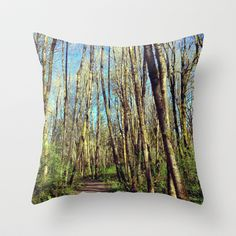 footpath  Throw Pillow by Post Haste Art - $20.00