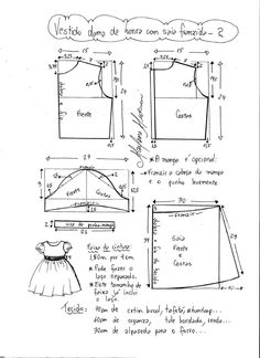 Baby Dress Sewing Pattern Tutorials 18 Ideas For 2019 Kids Dress Patterns, Kids Clothes Patterns, Baby Patterns, Clothing Patterns, Sewing For Kids, Baby Sewing, Dress Tutorials, Toddler Dress, Kids Outfits