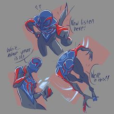 No photo description available. Black Spiderman, Amazing Spiderman, Spider Art, Spider Verse, Superhero Characters, Comic Book Characters, Marvel Art, Marvel Heroes, Spiderman Sketches