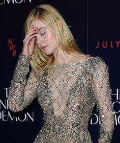 Elle Fanning attends the U.K. premiere of 'The Neon Demon' at Picturehouse Central in London on May 31, 2016