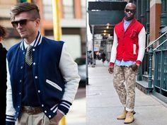 Varsity jacket Estação homem fashion