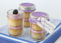 Blackberry Vanilla Cupcakes… seriously love this blog… It makes me want to be a party planner!