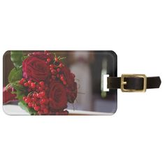 Red Roses Bridal Bouquet Bag Tag Bag Tag, Engagements, Save The Date, Red Roses, Wedding Gifts, Bouquet, Weddings, Bridal, Wedding Thank You Gifts