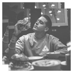 I wish someone would look at me like Gerald (G-Eazy) looks at this burger! Baby G, Baby Daddy, G Eazy Style, Bae, Attractive Guys, Thats The Way, The Villain, Man Crush, To My Future Husband