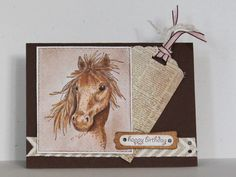 Birthday in the Corral by Chautona - Cards and Paper Crafts at Splitcoaststampers.  Serendipity Stamps Mustang rubber stamp