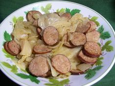 Kielbasa, Cabbage, and Onions (Low-Carb Slow Cooker Crock Pot). I will use the fat free/low fat Kielbasa.