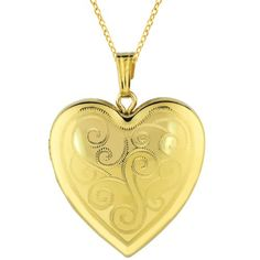 Momento Lockets Gold Over Silver Heart Shaped Locket Necklace >>> To view further for this item, visit the image link.
