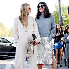 Fashionable Friends - Giovanna Battaglia & Anna dello Russo | Street Style | ThayAllHateUs