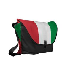 Shop Italian Flag Rickshaw Messenger Bag created by Italiantshirt. Flying Flag, Commuter Bag, Pack Your Bags, Italian Style, Beautiful Bags, Bag Accessories, Purses And Bags, Satchel, Fashion Jewelry