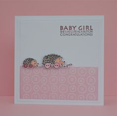 What new Mommy wouldn't love this baby girl card?