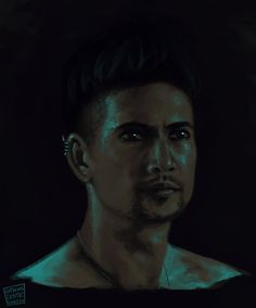Magnus Bane. Cat eyes. It was just a speedpaint at first…. and then it sat in my drafts for over a month. I edited the eyes to look more like how we saw them in episode 8.