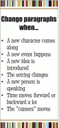 Change paragraphs when..