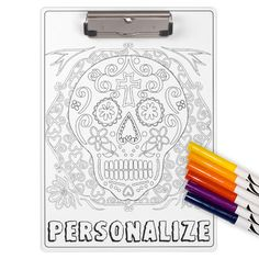 Color Your Own Personalized Clipboard - Many designs available.
