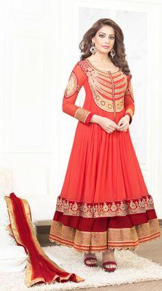 Bipasha Basu In Hot Red Salwar Kameez BR100838