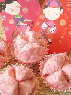 chinese new year: Good Luck , Good Wealth With Huat Kuey - Steamed Rice Cake