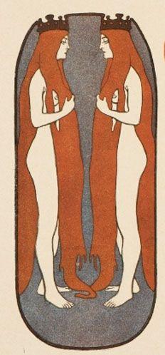 La Femme Dans la Decoration Moderne Illustrations by Julius Klinger