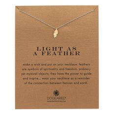 Dogeared Light As a Feather Charm Necklace ($59) ❤ liked on Polyvore featuring jewelry, necklaces, gold, 14 karat gold jewelry, 14k jewelry, feather charm, dogeared necklace and charm jewelry