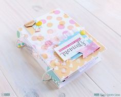 "Mini album ""Precious happy little moments"" Mini Albums, Mini Scrapbook Albums, Scrapbook Paper Crafts, Diy Crafts For Girls, Pink Crafts, Album Diy, Baby Album, Crate Paper, Smash Book"