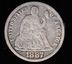 Dime United States Coin | 1887 s Liberty Seated Silver Dime United States Coin | eBay