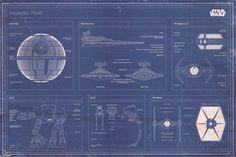 Star Wars - Imperial Fleet blueprint Posters sur AllPosters.fr
