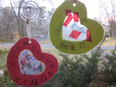 sweet kids' valentines: mini stained glass hearts #crafts