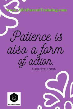 Patience is also a form of action. Inspirational quote for applied behavior analysis service providers (BCBAs, ABA therapists, special education teachers, etc. Applied Behavior Analysis, Motivational Quotes, Inspirational Quotes, Special Education Teacher, Aba, Professional Development, Patience, Curriculum, Career