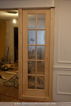Stationary Built In French Door Room Separating Panels   10