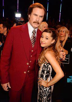 Ariana Grande and Will Ferrel!