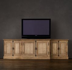 French Casement Media Console Solid Doors for upstairs Media room