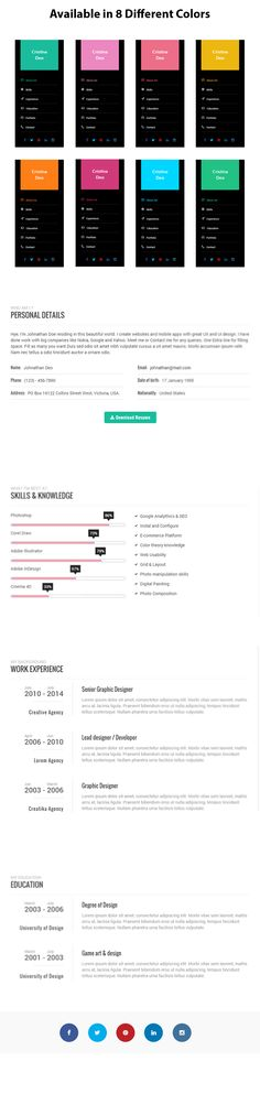 Swiftly – Personal and Resume WordPress Template + Download