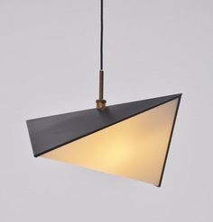 Svend Aage & Holm Sørensen; Enameled Metal, Perspex and Brass Ceiling Light, c1960.