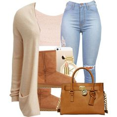 4/5/15 by trillxassxbitch on Polyvore featuring polyvore, fashion, style, VILA, Topshop, UGG Australia, MICHAEL Michael Kors, Michael Kors and AERIN