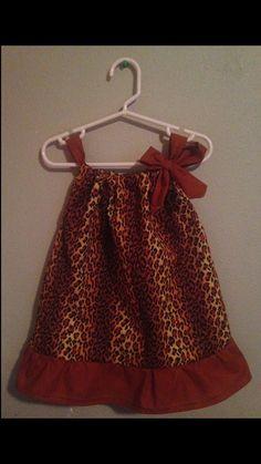 Pillow Case Dress  Size: 18 months  Cheetah Print by Sewn4ACause