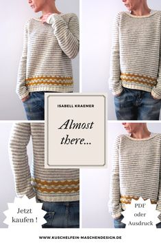 Strickanleitung Almost there von Isabell Kraemer – Knitted Sweater Bloğ Knitting Websites, Knitting Blogs, Easy Knitting, Knitting For Beginners, Ralph Lauren Pullover, Almost There, Knitted Headband, Girls Sweaters, Cable Knit Sweaters