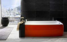 Red Bath Tubs