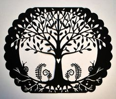 TREE papercut by smoothpebble, via Flickr