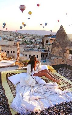 "Cappadocia, Turkey  ""The greatest thing in this world is not so much where we stand as in what direction we are moving."""