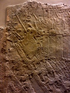 Battering machine, Lachish. Assyrian Palace. British Museum