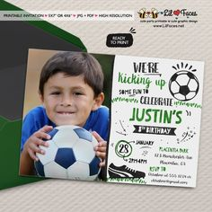Soccer Birthday Party Photo invitations All Star Sports Birthday Party printable invitations Watercolors birthday invitations Photo Invitations, Watercolor Invitations, Printable Invitations, Party Printables, Birthday Party Invitations, Invitation Ideas, Soccer Birthday Parties, Sports Birthday, Soccer Party