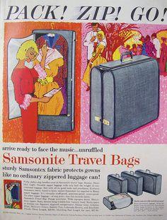 Samsonite Travel Bag Vintage Ad