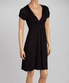Another great find on #zulily! Black Empire-Waist Dress #zulilyfinds