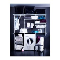 my laundry closet above W/D ALGOT Wall upright/shelves/rod IKEA The parts in the ALGOT series can be combined in many different ways and easily adapted to your needs an...